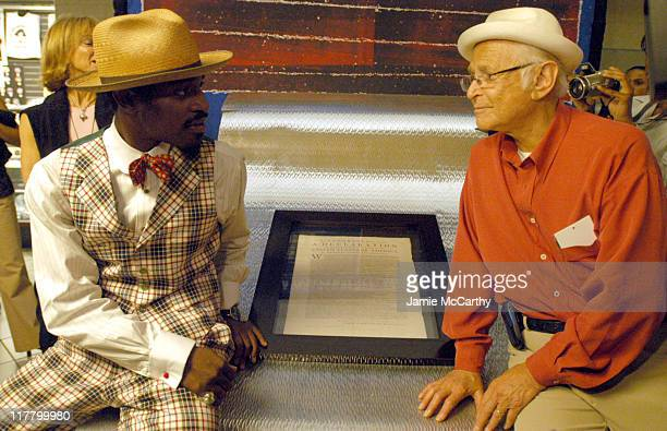 Andre 3000 and Norman Lear with The Declaration Of Independence