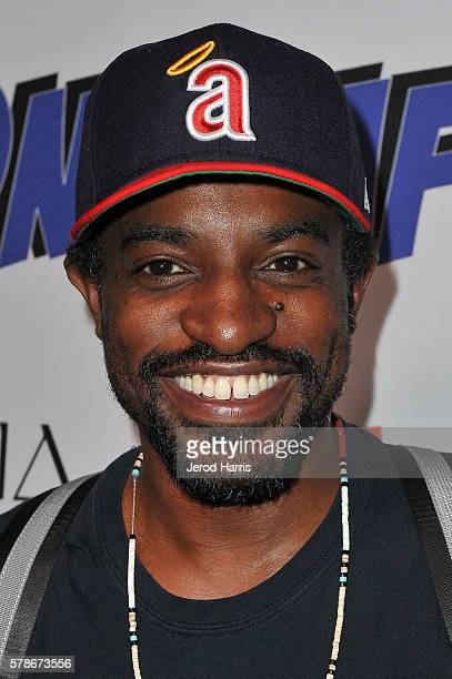 Andre 3000 arrives at NYLON and NVE The Experience Agency Presents AfterCon Celebrating The Women Of Wonder at Omnia Nightclub on July 21 2016 in San...