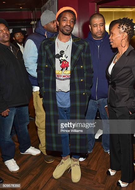 Andre 3000 attends a Cocktail Affair For Grammy Nominated Kawan KP Prather at 925 Scales on February 8 2016 in Atlanta Georgia
