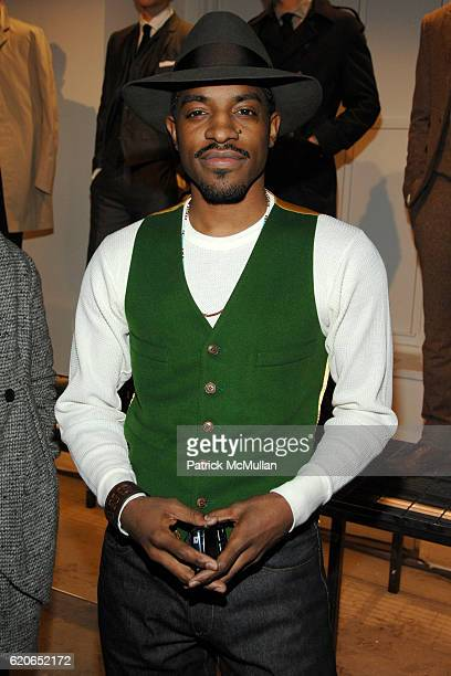Andre 3000 attends GQ/CFDA Best New Menswear Designers Party at 620 Fifth Avenue on January 30 2008 in New York City