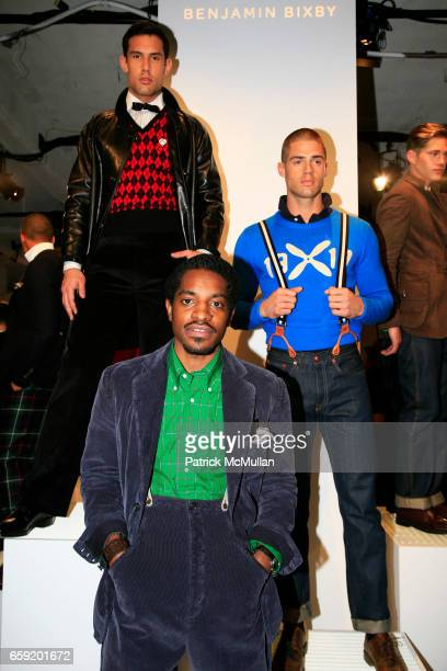 Andre 3000 attends GQ/CFDA Honor Second Annual Best New Menswear Designer in America Finalists at Rockefeller Center on February 11 2009 in New York...