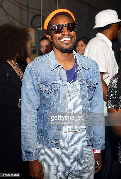 Andre 3000 attends Hot 1079 Birthday Bash Block Show at Philips Arena on June 20 2015 in Atlanta Georgia