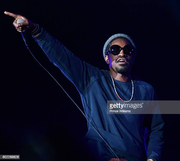 Andre 3000 attends ONE MusicFest at Lakewood Amphitheatre on September 10 2016 in Atlanta Georgia