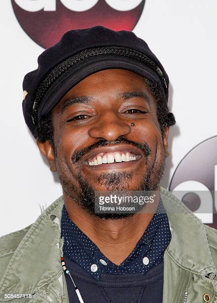 Andre 3000 attends the Disney/ABC 2016 Winter TCA Tour at Langham Hotel on January 9 2016 in Pasadena California