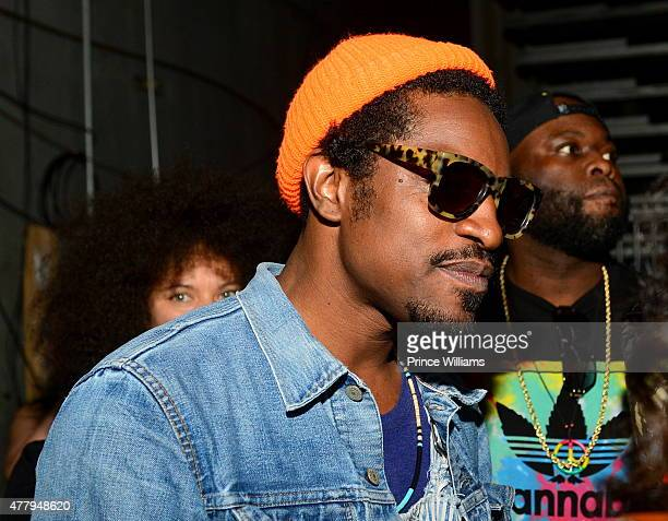 Andre 3000 backstage at the Hot 1079 Birthday Bash Block Show at Philips Arena on June 20 2015 in Atlanta Georgia