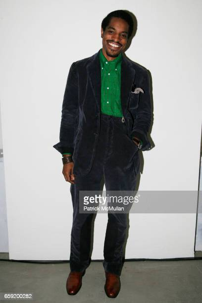 Andre 3000 Benjamin attends GQ/CFDA Honor Second Annual Best New Menswear Designer in America Finalists at Rockefeller Center on February 11 2009 in...