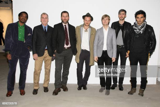 Andre 3000 Benjamin David Mullen Alex Carleton Robert Geller Sam Shipley Jeff Halmos and Yigal AzrouÎl attend GQ/CFDA Honor Second Annual Best New...