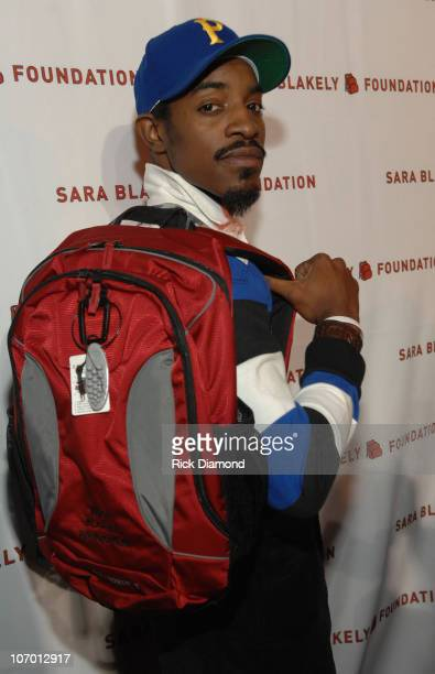 Andre '3000' Benjamin during Sir Richard Branson CoHosts the Sara Blakely Foundation 'Give a Damn' Party Inside at Macy's Building in Atlanta Georgia...