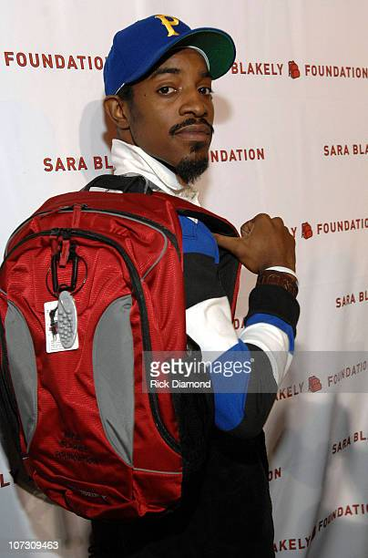 Andre 3000 Benjamin during Sir Richard Branson CoHosts the Sara Blakely Foundation Give a Damn Party Inside at Macy's Building in Atlanta Georgia...