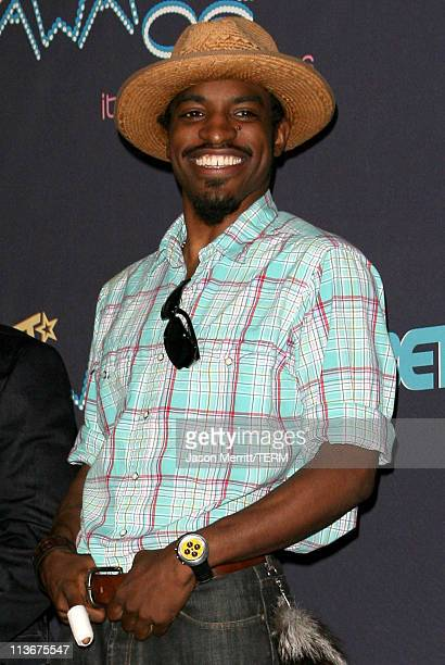 Andre 3000 during 2006 BET Awards Press Room at The Shrine in Los Angeles California United States