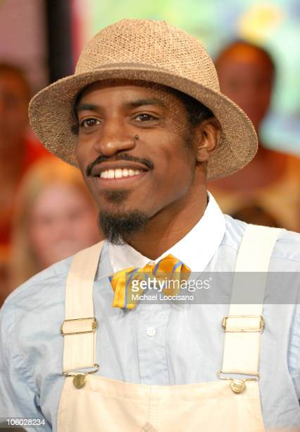 Andre 3000 during Christina Milian Cassie and Andre 3000 Visit MTV's 'TRL' August 8 2006 at MTV Studios in New York City New York United States