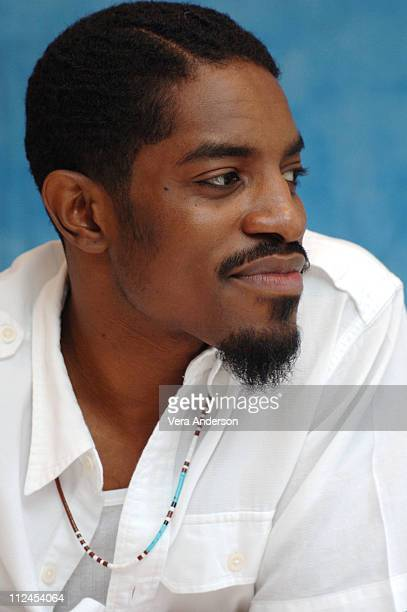 Andre 3000 during 'Four Brothers' Press Conference with Mark Wahlberg Andre Benjamin Tyrese Gibson Garrett Hedlund John Singleton and Sofia Vergara...