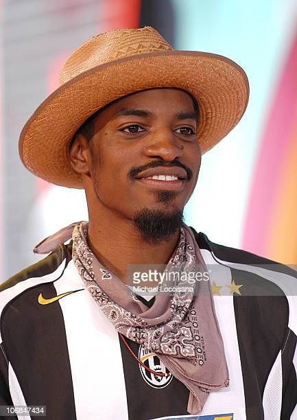 Andre 3000 during Kate Hudson 50 Cent and the Cast of 'Four Brothers' Visit MTV's 'TRL' August 9 2005 at MTV Studios Times Square in New York City...