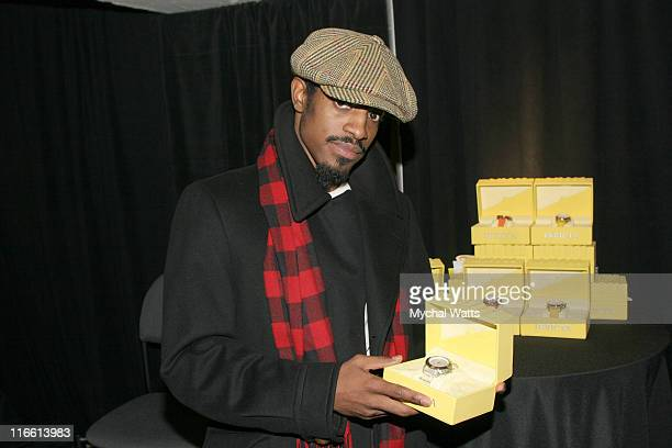 Andre 3000 during Official Celebrity Gift Lounge Super Bowl XL Produced by On 3 Productions Day 3 at Renaissance Center in Detroit Michigan United...