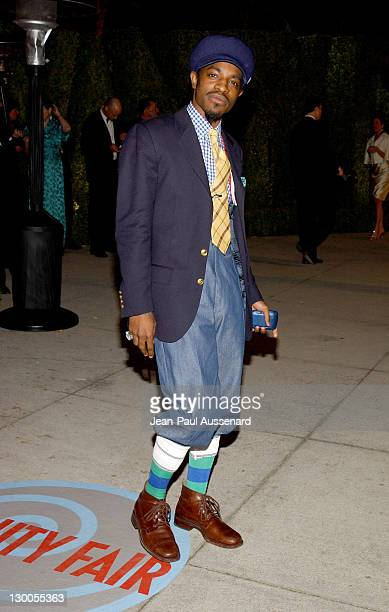 Andre 3000 from OutKast during 2004 Vanity Fair Oscar Party Arrivals at Mortons in Beverly Hills California United States