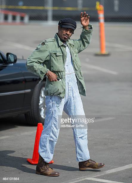 Andre 3000 is seen in Santa Monica on February 21 2015 in Los Angeles California