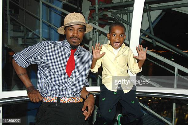 Andre 3000 of Outkast and guest during OutKast Give New Album Idlewild a Spin at O2 Exclusive Album Launch Party at BA London Eye in London Great...