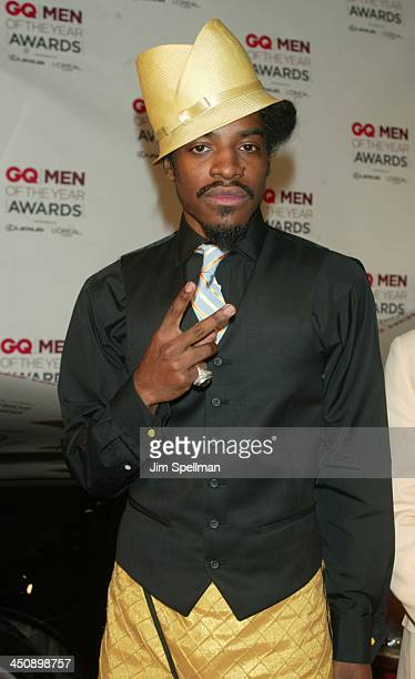 Andre 3000 of OutKast during 2002 GQ Men of the Year Awards Arrivals at Hammerstein Ballroom in New York City New York United States