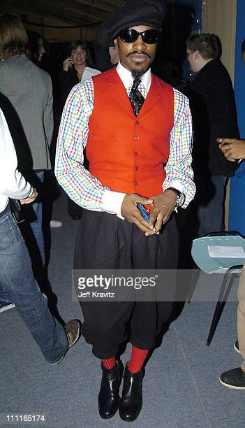Andre 3000 of OutKast during 2004 MTV European Music Awards Red Carpet at Torr di Valle in Rome Italy