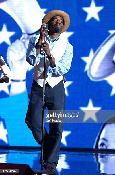 Andre 3000 of OutKast during 2004 MTV Video Music Awards Rehearsals Day 2 at American Airlines Arena in Miami Florida United States