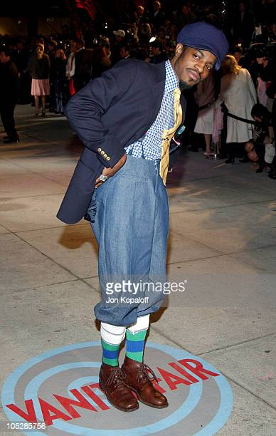 Andre 3000 of OutKast during 2004 Vanity Fair Oscar Party at Mortons in Beverly Hills California United States