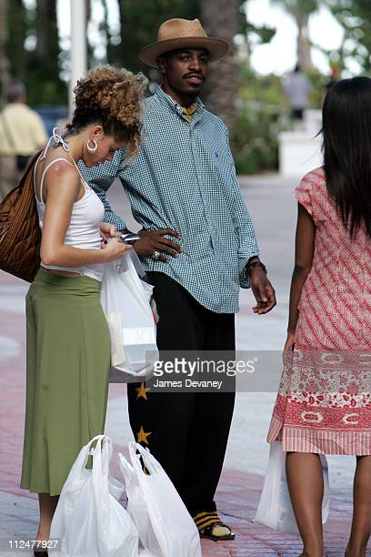Andre 3000 of Outkast during Celebrity Sightings in South Beach August 27th 2004 at South Beach in Miami Florida United States