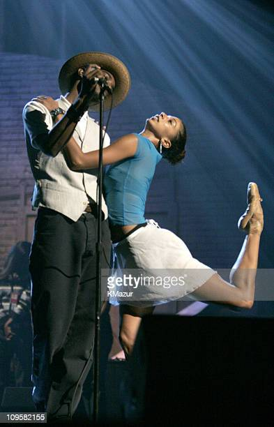 Andre 3000 of Outkast during Conde Nast Media Group Presents Fashion Rocks 2004 Rehearsal at Radio City Music Hall in New York City New York United...