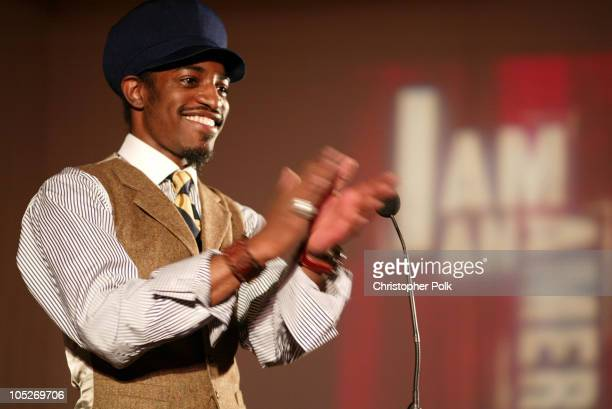 Andre 3000 of Outkast during Declare Yourself A Nonpartisan Young Voter Campaign at Historic Beverly Hills Post Office in Beverly Hills California...
