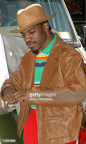 Andre 3000 of Outkast during Kate Hudson Outkast Killer Mike and Fonzworth Bentley Arrive for a Taping of The Late Show with David Letterman May 20...