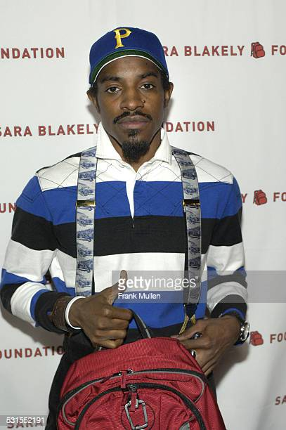 Andre 3000 of Outkast during Sir Richard Branson CoHosts the Sara Blakely Foundation 'Give a Damn' Party Arrivals at Macy's Building in Atlanta...