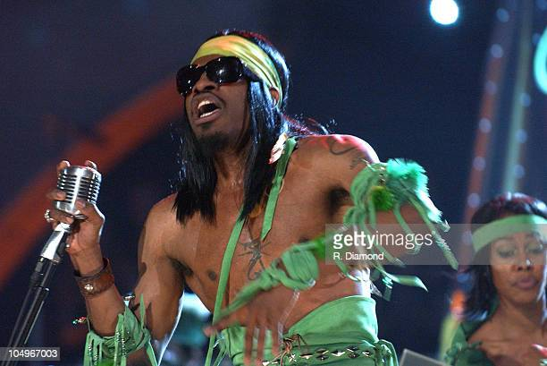 Andre 3000 of OutKast performing 'Hey Ya' during The 46th Annual GRAMMY Awards Show at Staples Center in Los Angeles California United States