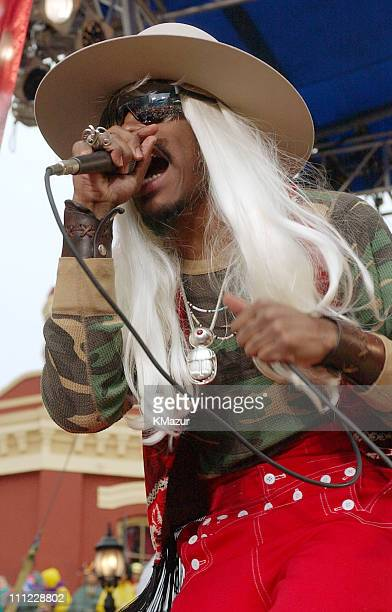 Andre 3000 of OutKast performs during MTV Mardi Gras 2002 at Jackson Square Park in New Orleans, Louisiana, United States.