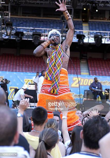 Andre 3000 of OutKast performs during Z100's Zootopia 2002 Show at Giants Stadium in East Rutherford New Jersey United States