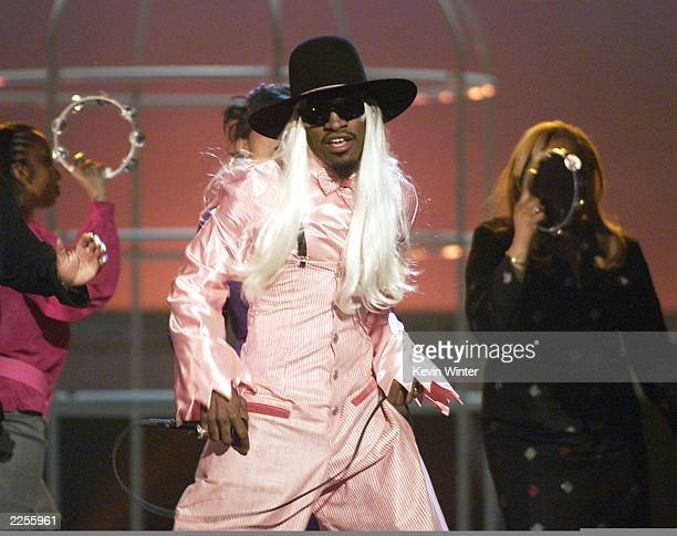 Andre 3000 of Outkast performs live at the 44th Annual Grammy Awards held at the Staples Center in Los Angeles Ca Feb 27 2002 Photo by Kevin...