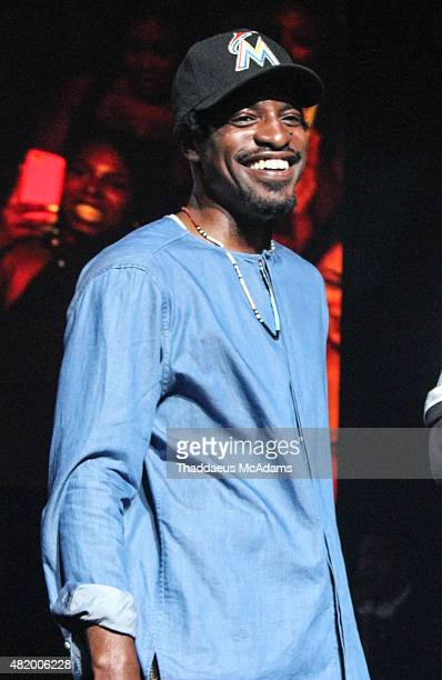 Andre 3000 performs at The TM 101 10 year Anniversary Concert at The Fox Theater on July 25 2015 in Atlanta Georgia