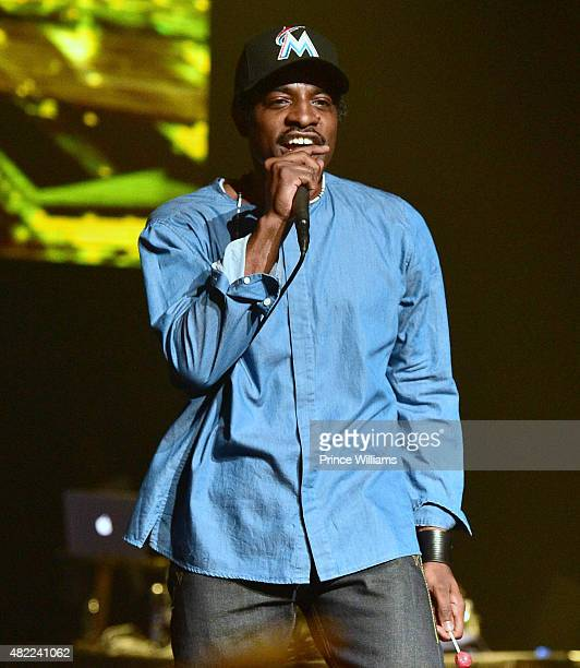 Andre 3000 performs at Young Jeezy Presents TM101 10 Year Anniversary at The Fox Theatre on July 25 2015 in Atlanta Georgia