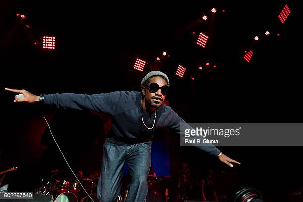 Andre 3000 performs on stage at Lakewood Amphitheatre on September 10 2016 in Atlanta Georgia