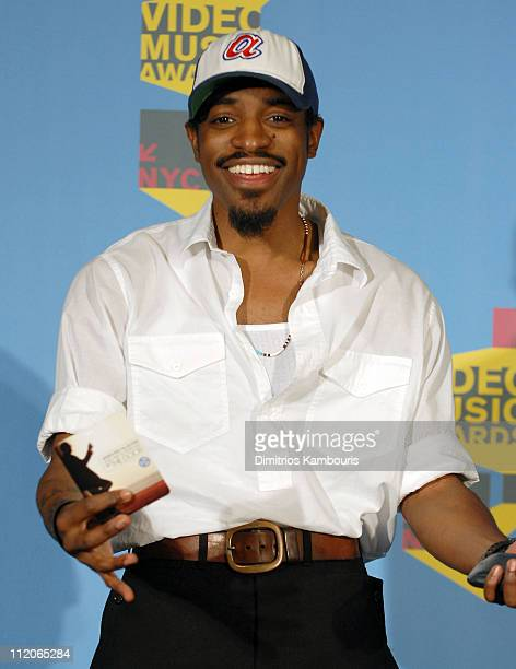 Andre 3000 presenter Best Hip Hop Video during 2006 MTV Video Music Awards Press Room at Radio City Music Hall in New York City New York United States