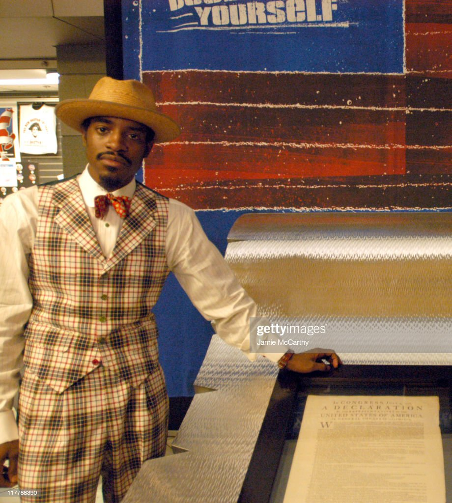 Declare Yourself Photo Call with Andre 3000 and Norman Lear