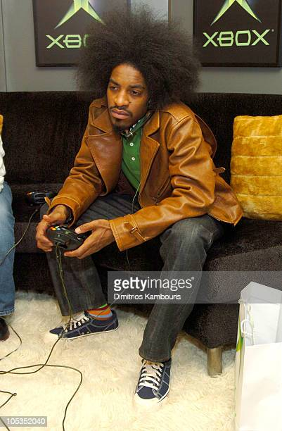 Andre 3000 with Xbox during 2004 Park City Motorola Lodge at Motorolla House in Park City Utah United States