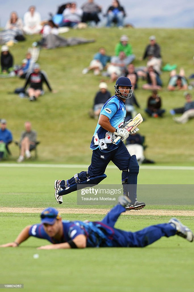 Andre Adams of Auckland looks on during the Twenty20 match between Otago and Auckland at Queenstown Events Centre on December 31, 2012 in Queenstown, New Zealand.