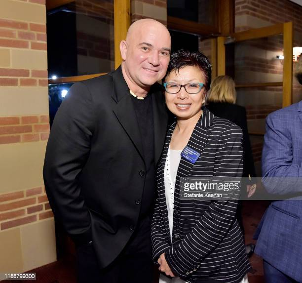 Andre Agassi and Cindy Fan attend The Promise Armenian Institute Event At UCLA at Royce Hall on November 19 2019 in Los Angeles California