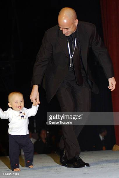 Andre Agassi and son Jaden Gil during The Andre Agassi Charitable Foundation's 7th Grand Slam for Children Fundraiser Auction at The MGM Grand Hotel...