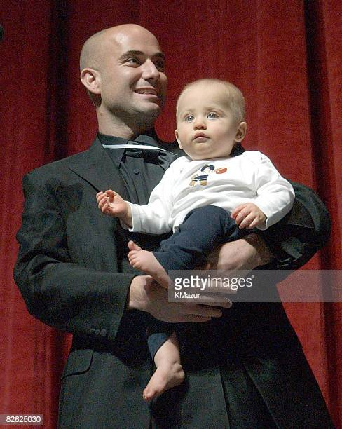Andre Agassi and son Jaden Gil