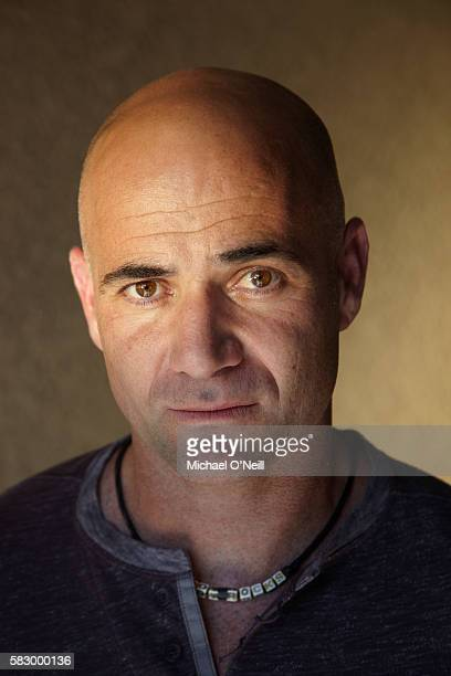 Andre Agassi and Stefanie Graf pose for People Magazine in September 2009 in Las Vegas Nevada