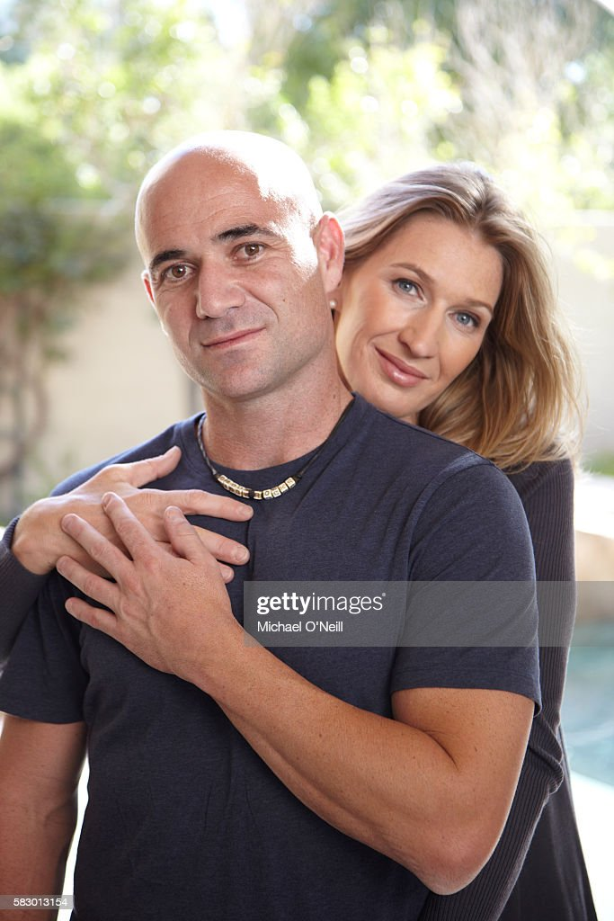 Andre Agassi and Stefanie Graf pose for People Magazine in September 2009 in Las Vegas, Nevada.