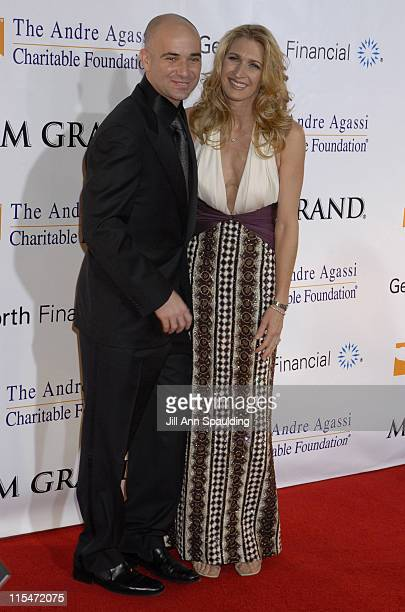 Andre Agassi and Steffi Graf during The Andre Agassi Charitable Foundation's 11th Grand Slam for Children at MGM Grand in Las Vegas Nevada United...