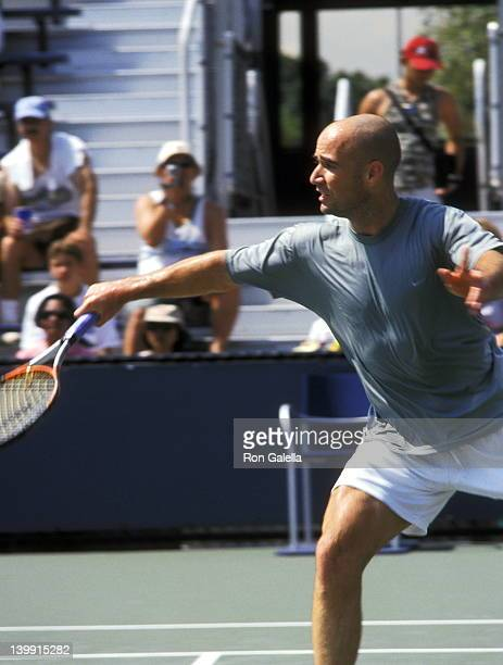 Andre Agassi at the Arthur Ashe Kids Day-2000 U.S. Open Tennis, USTA National Tennis Center, Queens.