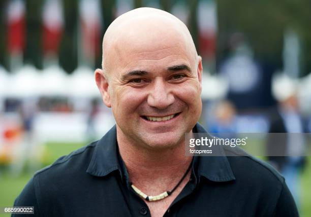 Andre Agassi attends the Global Champions Tour of Mexico at Campo de Marte on April 7 2017 in Mexico City Mexico