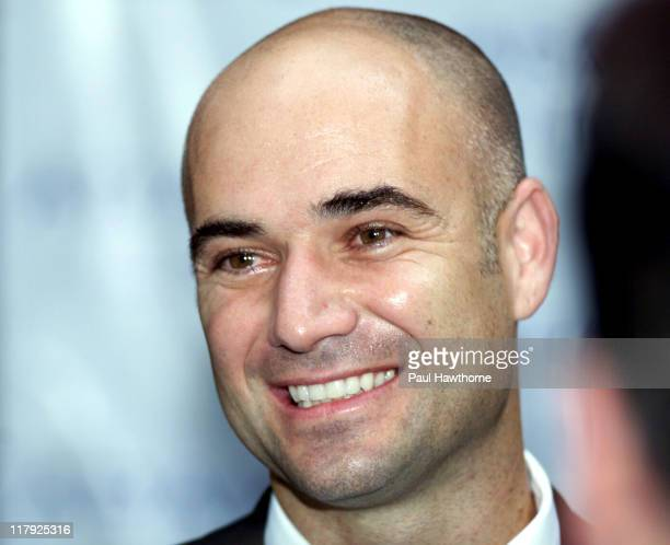 Andre Agassi during Andre Agassi Launches New Men's Fragrance Aramis Life at Christie's in New York City New York United States